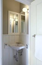 Corner Mirrors For Bathroom Bathroom Corner Sink Interior Oval Corner White Sink Placed On The