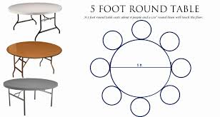 5 Foot Round Table Seating Round Designs
