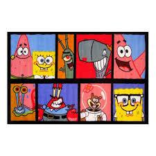 fun rugs spongebob characters photo strip kids rug 19x29