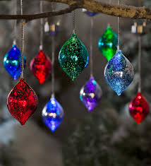 color changing mercury glass solar ornaments set of 3