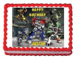 transformer cake toppers transformers prime edible party cake topper cake image sheet