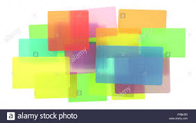 Beautiful Texture Abstract Colored Translucent Rectangles With Beautiful Texture