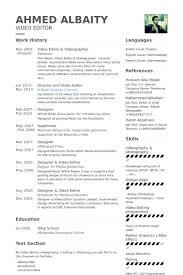 Photography Resume Sample by Astounding Videographer Resume 13 Freelance Photographer Resume