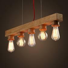 Wooden Chandelier Lighting Edison Native Wood Handmade Wooden Chandelier Hanging Led Pendant