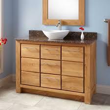 freestanding sleek sink vanity signature hardware