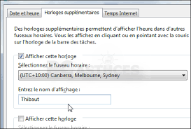 horloge bureau windows 7 ajouter une autre horloge windows 7
