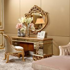 Antique Vanity With Mirror Bisini Antique Vanity Dresser With Mirror Luxury Bedroom Golden
