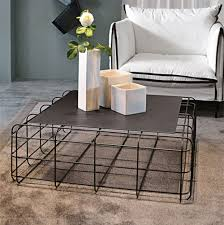 Wire Coffee Table Contemporary Coffee Table Metal Square Wire By Luca