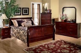Louis Queen Sleigh Bedroom Set With FREE Nightstand - Grande sleigh 5 piece cal king bedroom set