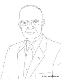 president dwight eisenhower coloring pages hellokids com