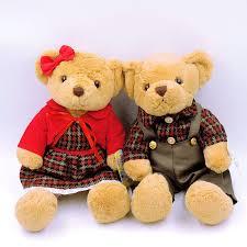 valentines teddy bears a pair kawaii teddy bears stuffed plush toys