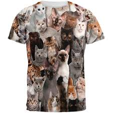 crazy cat all over t shirt walmart com