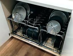 cabinet organizer for pots and pans kitchen pan organizer omega national kitchen y divider kitchen pan