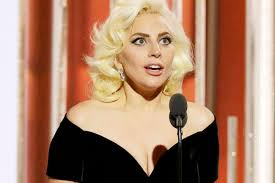 2016 golden globes lady gaga delivers speech for best actress in