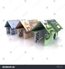 three origami house euro isolated on stock illustration 53218339