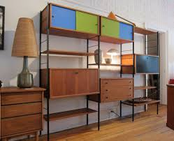 Mid Century Style Home by Mid Century Style Wall Unit Living Room Ideas
