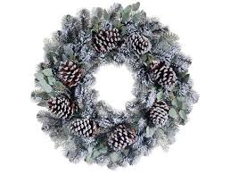 home 30 artificial flocked pine cone and eucalyptus pine