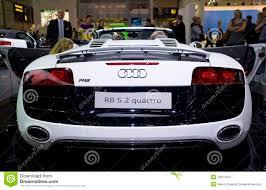 audi sports car new audi r8 quattro spyder sports car editorial stock image