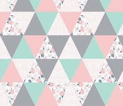 cheater quilt triangle quilts navy mint and pink floral baby