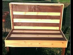 How To Make An Outside Bench How To Make A Pallet Bench Making A Garden Bench From An Old
