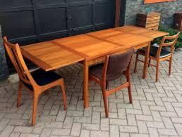 refinished danish mid century modern teak dining table extendable
