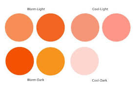 warm orange which red shade is the best for spring women light spring