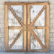 Recycled Interior Doors Reclaimed Wood Sliding Barn Door With Recycled Tin Diy