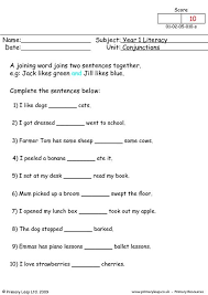 worksheets on conjunctions worksheets