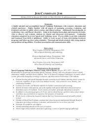 curriculum vitae for students template observation resume speech language pathologist