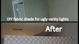 light covers for bathroom lights cover ugly hollywood lights bathroom diy home pinterest throughout