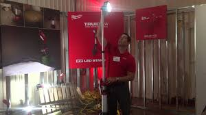 milwaukee m18 trueview led stand light m18 stand light youtube