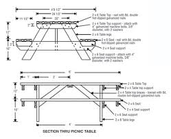 Plans For Picnic Table With Attached Benches by Plans Venable U0027s Vegetables