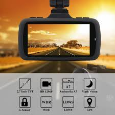 eborn hd dash cam with built in gps 170 angle view 1080p 1296p