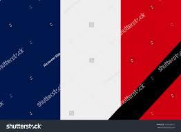 French Flag Banner French Flag Mourning Style Illustration Stock Illustration