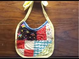 how to make a quilted baby bib youtube