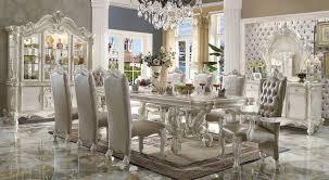acme 11 piece versailles dining set in bone white finish usa versailles dining set in bone white finish