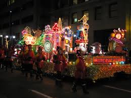 christmas light parade floats dogs not drums getting to know co