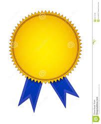 blue and gold ribbon gold award medal with blue ribbon stock illustration illustration