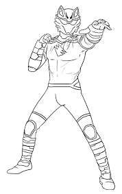 rangers wild force coloring pages