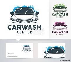 car wash center vector logo with alternative colors and business