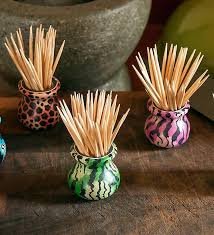 Toothpick Holders Three Soapstone Toothpick Holders African Decor Swahili Modern