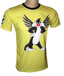 sylvester shirt sylvester the cat t shirt with logo and all printed picture