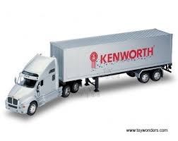 kenworth tractor trailer kenworth t2000 tractor trailer truck by welly 1 32 scale diecast