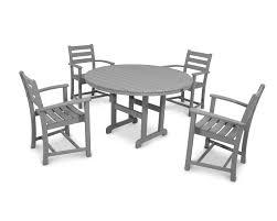 Black Patio Dining Set - monterey bay 5 piece dining set