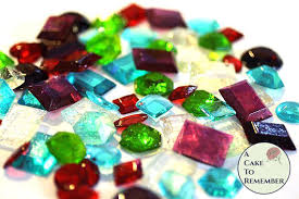 edible jewels 50 edible sugar gems for cake bling assorted shapes edible