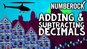 adding decimals song for kids includes subtracting decimals