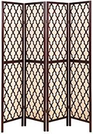Moroccan Room Divider Amazon Com Mygift Folding Wood 4 Panel Screen Moroccan Cutout