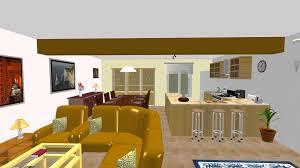 escalier entre cuisine et salon amenagement salon avec escalier maison design bahbe com