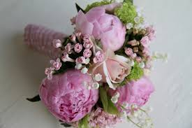 of the valley bouquet pink peony of the valley wedding bouquet