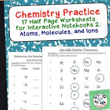 chemistry practice worksheets that work great in interactive